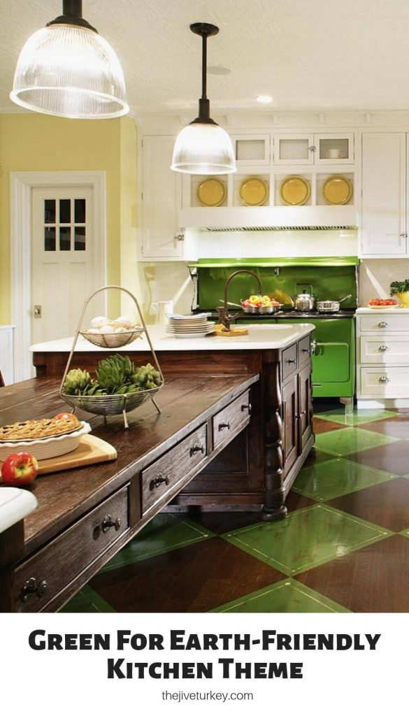 Green For Earth-Friendly Kitchen Theme