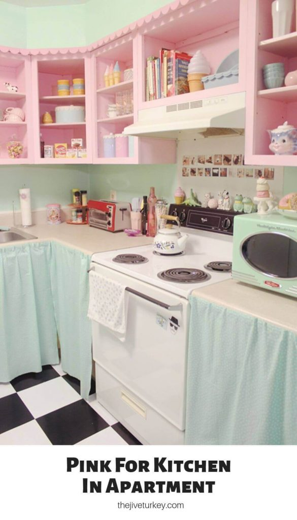Pink For Kitchen In Apartment