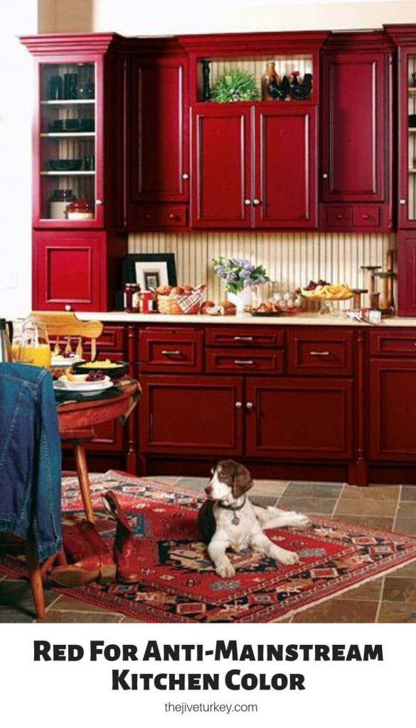 Red For Anti-Mainstream Kitchen Color