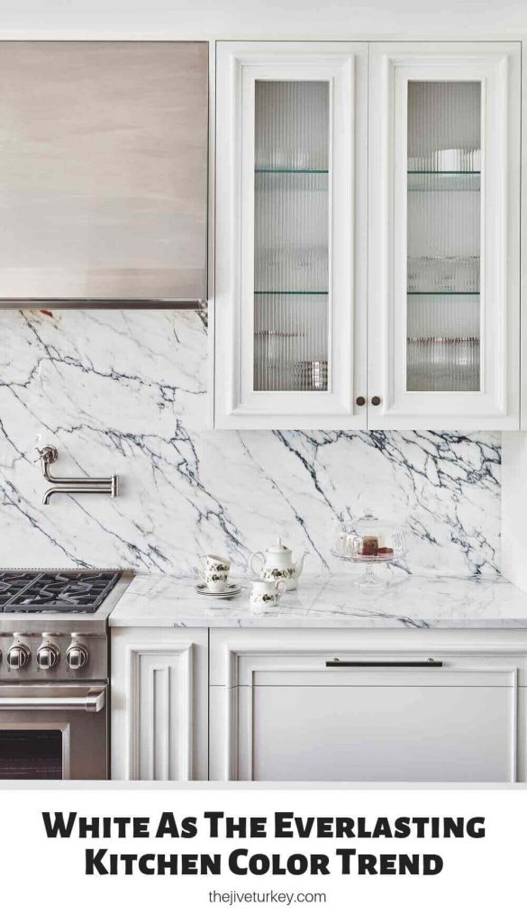 White As The Everlasting Kitchen Color Trend